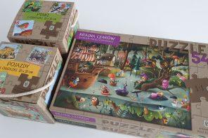 Dlaczego puzzle są fajną zabawką. I nowości puzzlowe z ulubionych książek.